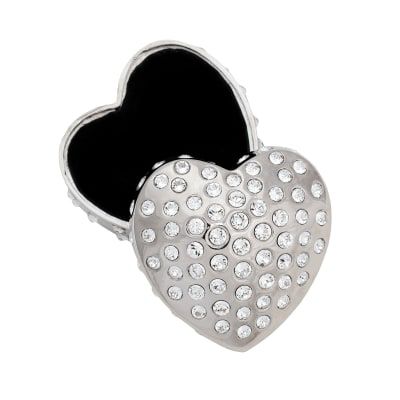 "Crystamas ""Forever Heart"" Swarovski Crystal Platinum-Colored Heart Jewelry Box"