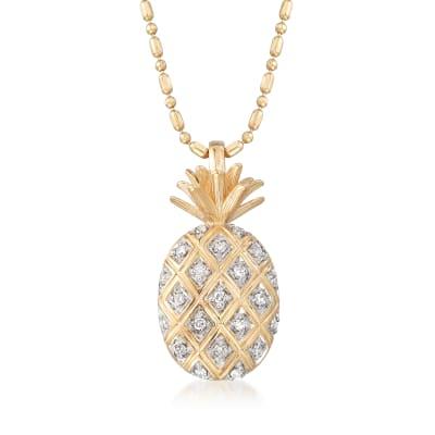 .10 ct. t.w. Diamond Pineapple Pendant Necklace