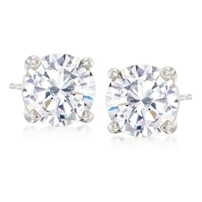 4.00 ct. t.w. CZ Stud Earrings in Sterling Silver