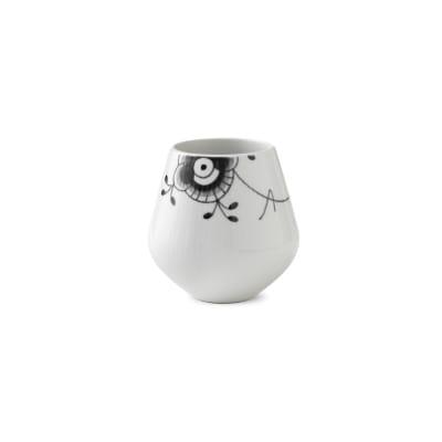 "Royal Copenhagen ""Black Fluted Mega"" Small Porcelain Vase"