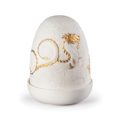 "Lladro ""Dragon"" Cordless Porcelain Dome Lamp"