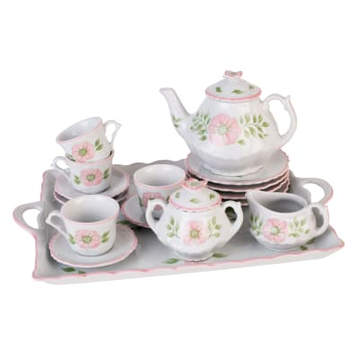 Child's Porcelain Pink Blossom Tea Set