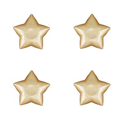 """Vietri """"Festa"""" Set of 4 Metallic Glass Star Dishes"""