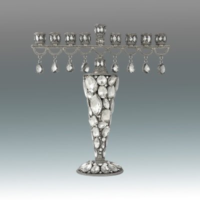 Jeweled Lavaliere Menorah