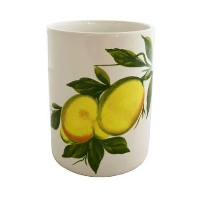 """Abbiamo Tutto """"Lemons"""" Ceramic Wine Bottle/Kitchen Utensil Holder from Italy"""