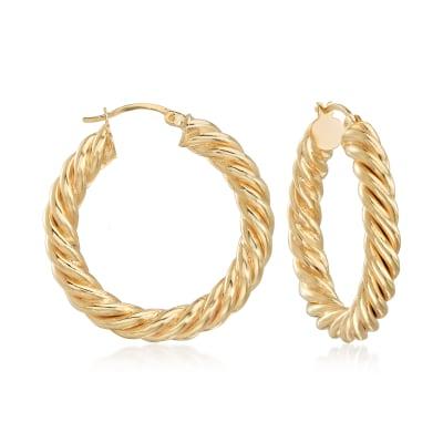 18kt Gold Over Sterling Spiral Hoop Earrings