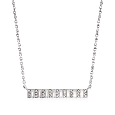 .10 ct. t.w. Diamond Bar Panel Necklace in Sterling Silver