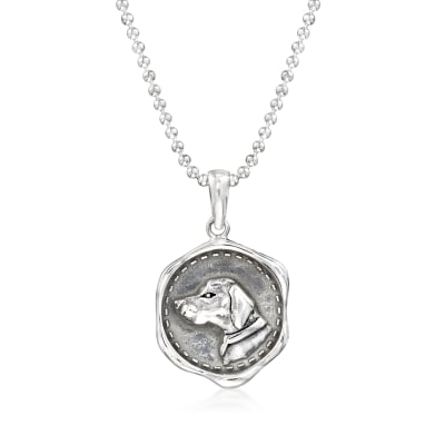 Sterling Silver Dog Pendant Necklace