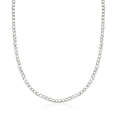 "Zina Sterling Silver ""Ice Cube"" Chain Necklace"