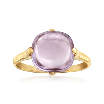 Italian 1.50 Carat Amethyst in 14kt Yellow Gold