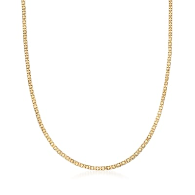 Italian 14kt Yellow Gold Bismark-Link Necklace