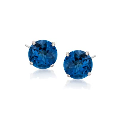 2.80 ct. t.w. Mystic Blue Topaz Stud Earrings in Sterling Silver