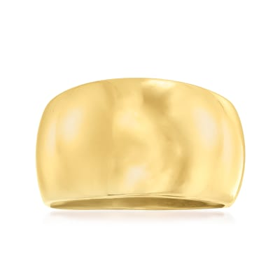 Italian 18kt Gold Over Sterling Dome Ring
