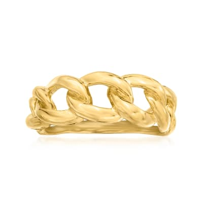 Italian 18kt Gold Over Sterling Twist Link Ring