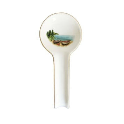 "Abbiamo Tutto ""A Day at the Lake"" Ceramic Spoon Rest from Italy"