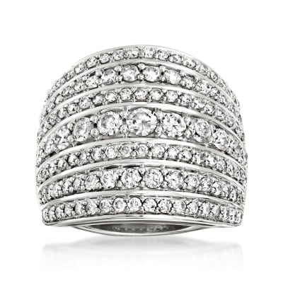 2.00 ct. t.w. Diamond Multi-Row Ring in Sterling Silver