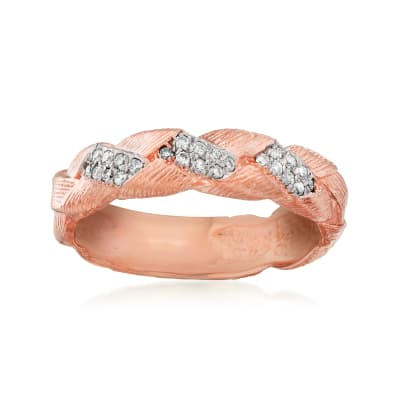.12 ct. t.w. Diamond Braid Ring in 14kt Rose Gold