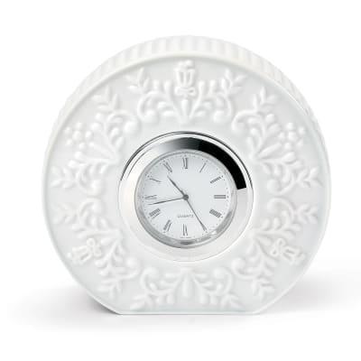 "Lladro ""Logos"" Porcelain Table Clock"