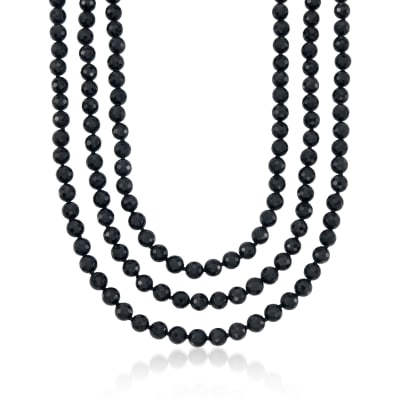 8-8.5mm Black Onyx Endless Necklace