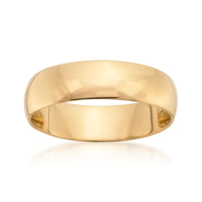 Men's 6mm 14kt Yellow Gold Wedding Ring
