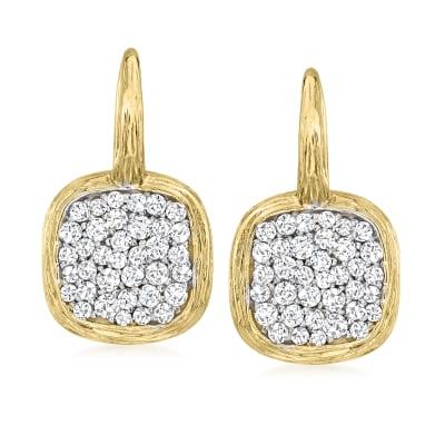 1.05 ct. t.w. Diamond Drop Earrings in 14kt Yellow Gold