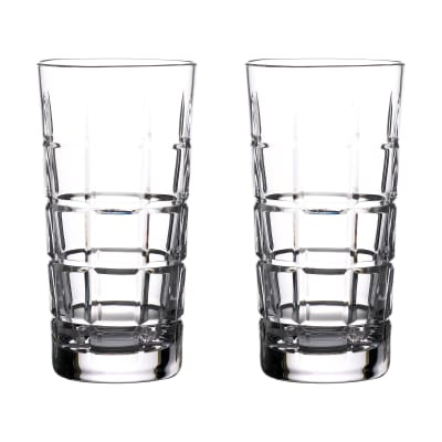 "Waterford Crystal ""Gin Journeys"" Set of Two Cluin Highball Glasses"