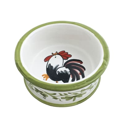 "Abbiamo Tutto ""Rooster"" Ceramic Pet Bowl from Italy"