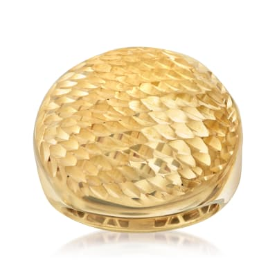 Italian 18kt Gold Over Sterling Round-Top Ring