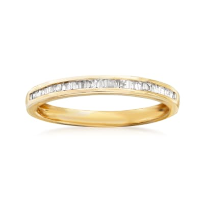 .15 ct. t.w. Baguette Diamond Ring in 14kt Yellow Gold