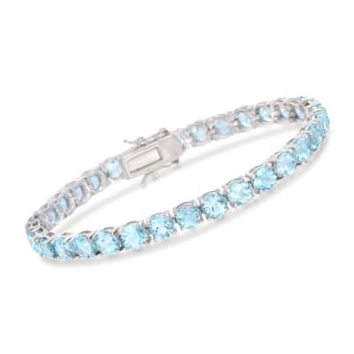 19.20 ct. t.w. Sky Blue Topaz Tennis Bracelet in Sterling Silver
