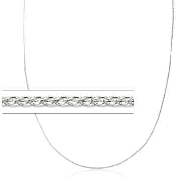 .6mm 14kt White Gold Wheat Chain Necklace