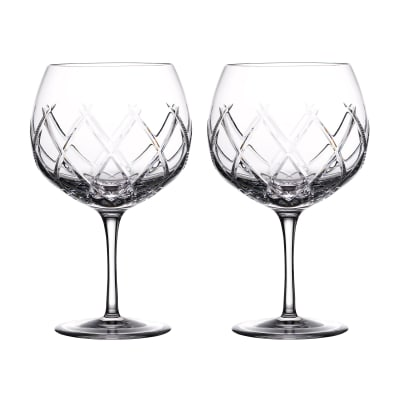 "Waterford Crystal ""Gin Journeys"" Set of Two Olann Balloon Glasses"