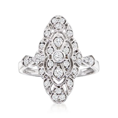 .50 ct. t.w. Diamond Openwork Ring in 14kt White Gold