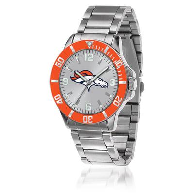 Men's 46mm NFL Denver Broncos Stainless Steel Key Watch