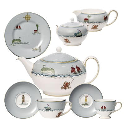 "Kit Kemp for Wedgwood ""Sailor's Farewell"" Tea Service"
