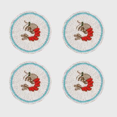Joanna Buchanan Set of 4 Shrimp Coasters