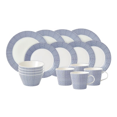 """Royal Doulton """"Pacific Dots"""" 16-pc. Service for 4 Dinnerware Set"""