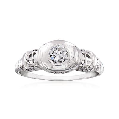 C. 1950 Vintage .25 Carat Diamond Ring in 18kt White Gold