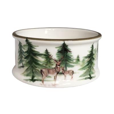 "Abbiamo Tutto ""Woodlands"" Ceramic Pet Bowl from Italy"