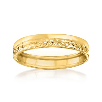 Italian 14kt Yellow Gold Ring