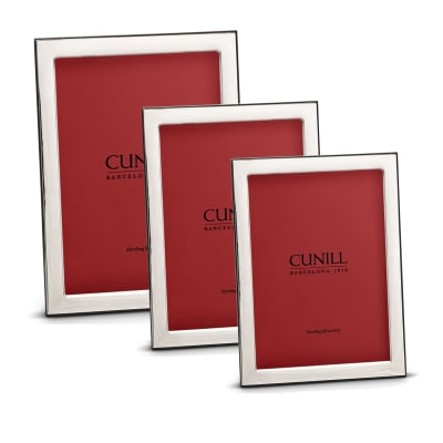 """Cunill Italian Sterling Silver """"Oxford"""" Picture Frame"""