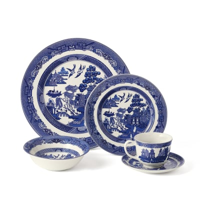 "Wedgwood Johnson Brothers ""Willow Blue"" Dinnerware"