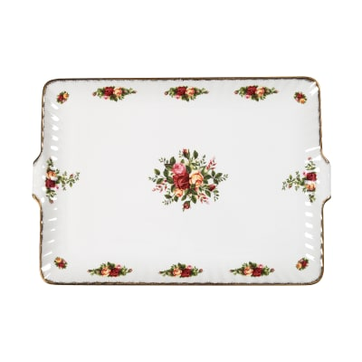 """Royal Albert """"Old Country Roses"""" Fluted Serving Tray"""