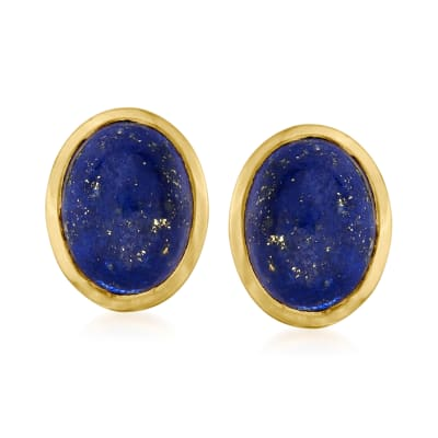 Lapis Earrings in 18kt Gold Over Sterling