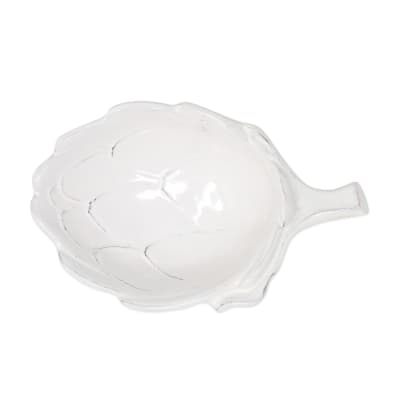 "Vietri ""Artichoke"" White Figural Small Bowl from Italy"