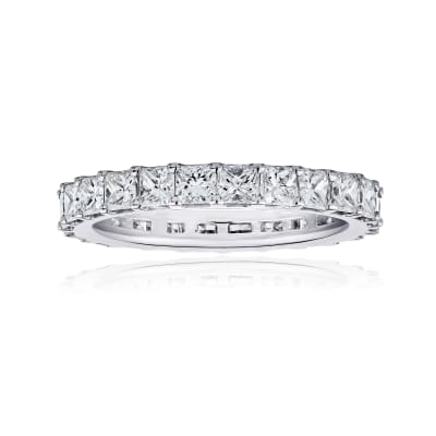 2.75 ct. t.w. Princess-Cut Diamond Eternity Band in 14kt White Gold