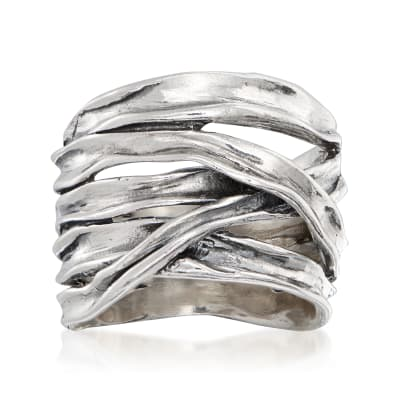 Sterling Silver Multi-Row Highway Ring