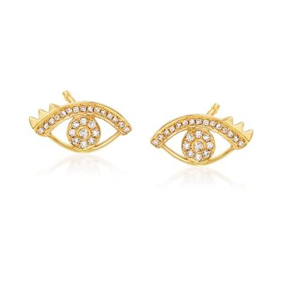 .24 ct. t.w. Diamond Eye Earrings in 18kt Yellow Gold