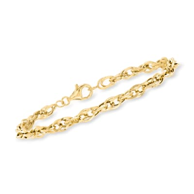 14kt Yellow Gold Interlocking Double Oval-Link Bracelet