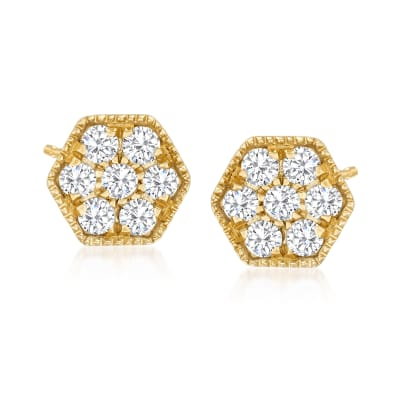 .25 ct. t.w. Diamond Geometric Stud Earrings in 18kt Gold Over Sterling